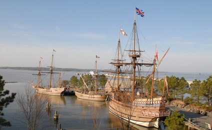 Jamestown-Settlement-1607-ships